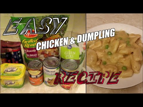 Easy Chicken and Dumplings Recipe Stove or Crockpot