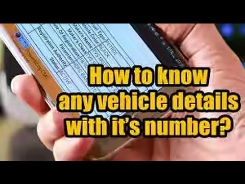 FIND ANY VEHICLES INFORMATION BY IT'S NUMBER PLATE
