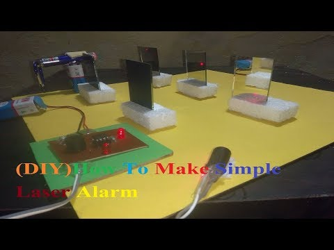 [Hindi] How To Make Simple Laser Security Alarm (2017)