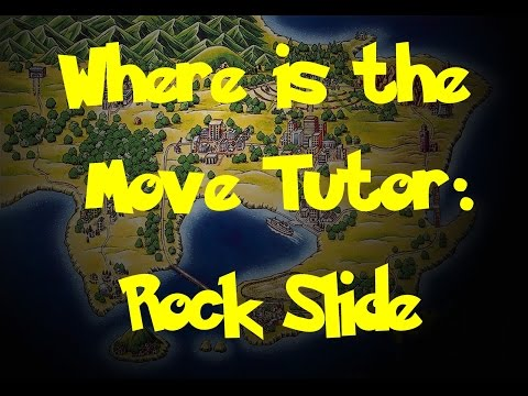 Where Is: The Move Tutor: Rock Slide (Pokemon Fire Red/Leaf Green)