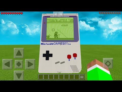 WORKING GAMEBOY in Minecraft Pocket Edition! (No Mods)