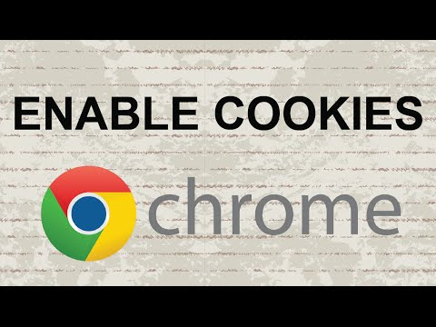 How to enable cookies in Chrome [Update]
