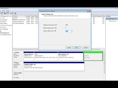 How to create partition in windows 7 after installation