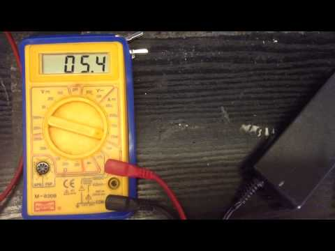 Multimeter test on 12v PSU