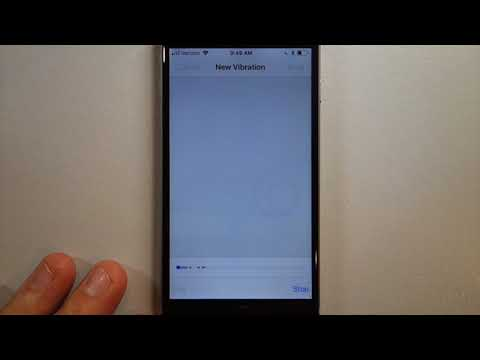 How to create a custom vibration for alerts on iPhone
