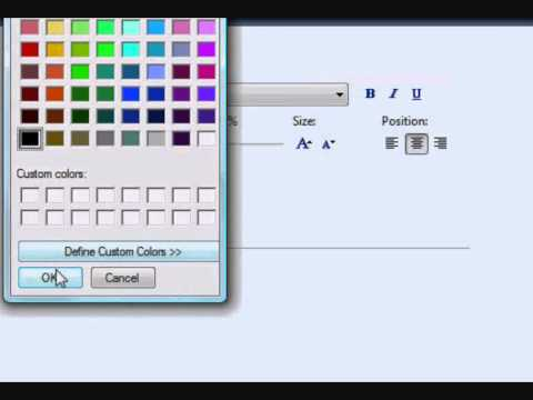 How to create a cool title or text using Windows Movie Maker