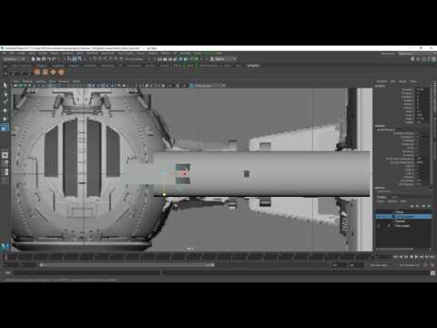Tie Fighter Modelling in Maya Part 1-5 Compilation
