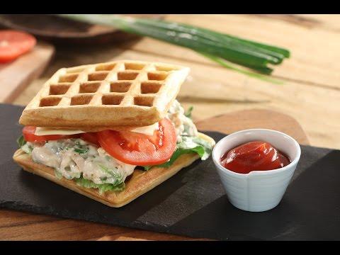 Chicken Waffle Sandwich | Chef Sanjeev Kapoor