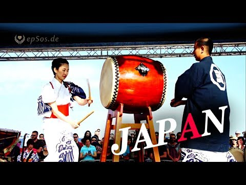 Traditional Japanese Music with Taiko Drums.