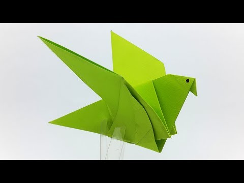 Origami Flapping Bird - How to make a Paper Bird Easy (DIY Crafts Tutorial)