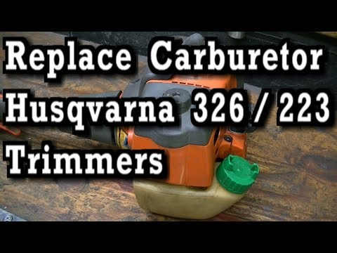How To Replace Carburetor on Husqvarna 326LS and 223LS Trimmers Weedeaters