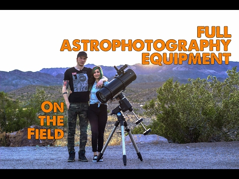 Full Astrophotography Equipment on the field