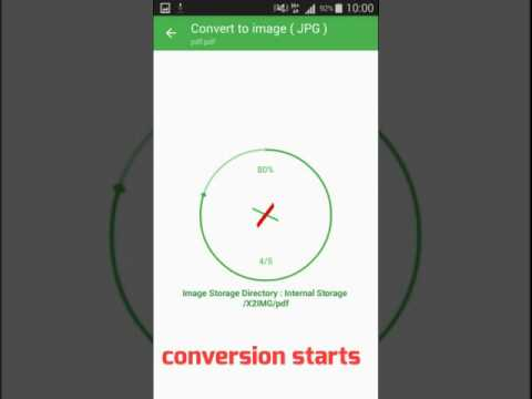 Convert PDF file to images(JPG or PNG) for free with android app