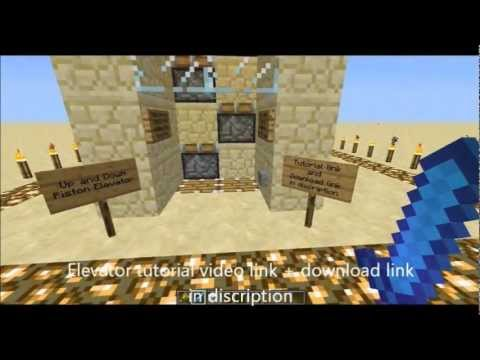 Minecraft Piston Elevator Up and Down + Download HD