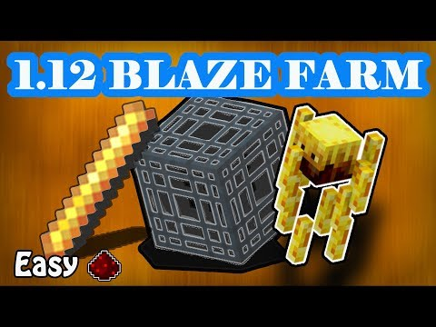 Easy Blaze Farm Tutorial 1.12+ Java Editon Minecraft