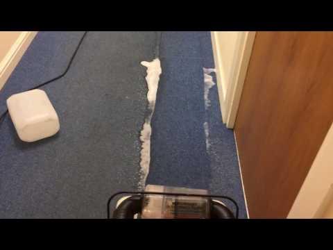 Heavily soiled corridor carpet clean