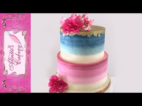 Burgundy Blue Wedding Cake Tutorial