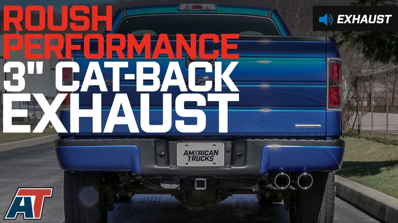 2011-2014 F150 Roush Performance 3 Cat-Back Exhaust w/ Y-Pipe Tip 5.0L Sound Clip & Install