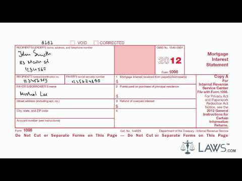 Learn How to Fill the Form 1098 Mortgage Interest Statement