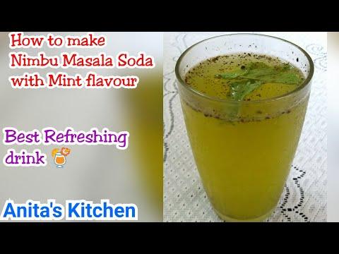 Mint Lemonade - Nimbu Masala Soda with mint - Best Refreshing Drink- mocktail recipe