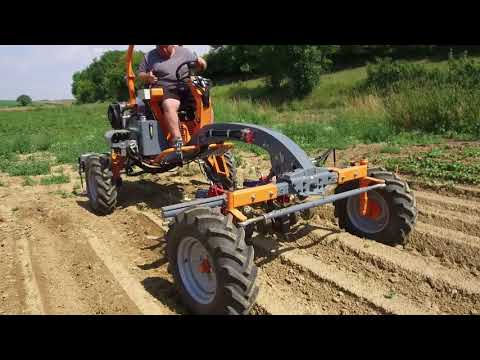 Terrateck - Tool carrier tractor weed control on the ridges