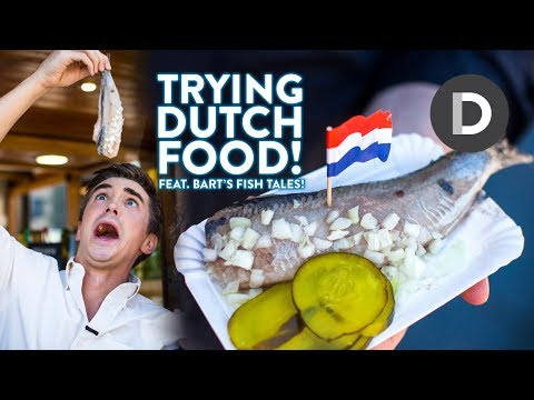 DUTCH FOOD TOUR! Trying Dutch Street Food!
