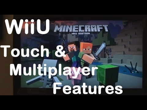Minecraft Wii U : Touch features and LOCAL multiplayer.