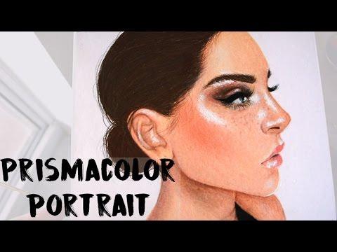 Colored Pencil Portrait Using Prismacolors