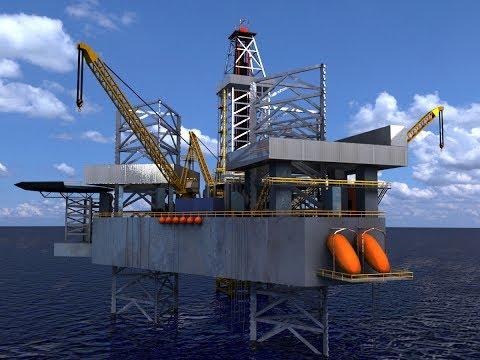 Jackup Oil Rig 3D Model