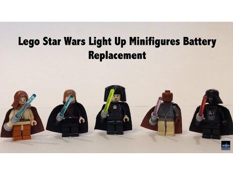 Replacing Batteries in Lego Star Wars Light Up Lightsaber Minifigures
