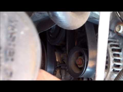 DIY How to install replace the drive belt Toyota Matrix Corolla √