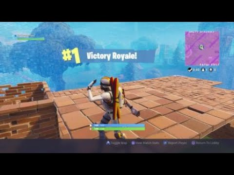 NO SCOPE HUNTING RIFLE SHOT TO WIN A FORTNITE GAME!!!!!!!