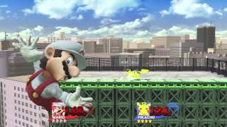 Ssbwiiu - Mario (mindnomad) Vs Pikachu
