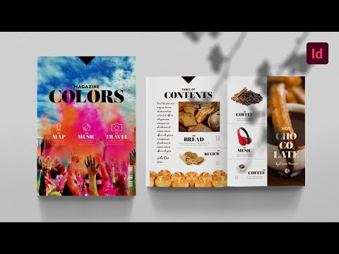 FREE InDesign Magazine Template: Colors