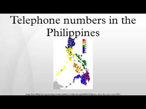 Telephone numbers in the Philippines