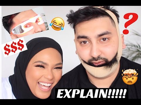£220 WORTH OF CRAZY BEAUTY GADGETS/ TOOLS ON MY HUSBAND!!!
