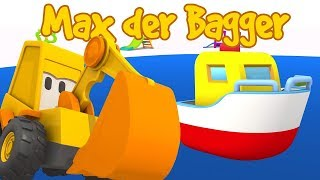 MAX der BAGGER 🚜 5 Episoden von Max der Bagger auf Deutsch 💡 Zeichentrickfilm auf Deutsch