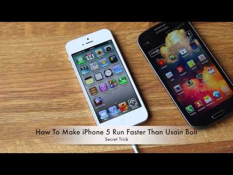 How To Make iPhone 5 Run Faster Than Usain Bolt