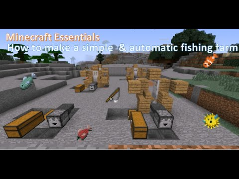 Minecraft Essentials - How to make an AUTOMATIC fish farm! EASY!