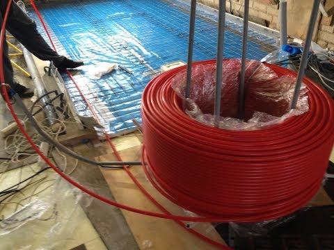 Underfloor Heating - Pipe Decoiler - winding