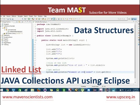 Linked List Example in Java using Eclipse | Team MAST