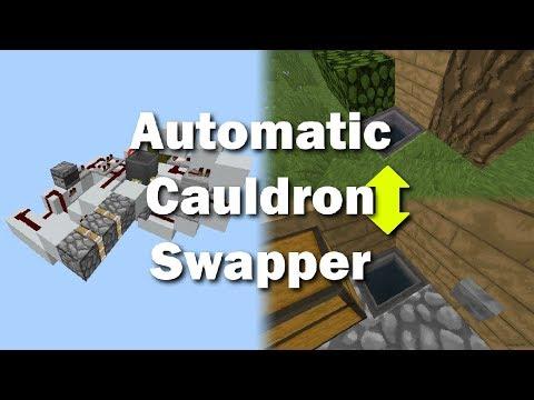 MCPE Automatic Cauldron Filler