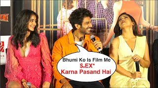 kartik aryaan Making Fun Of Ananya pandey & Bhumi pednekar |pati patni aur woh trailer Launch