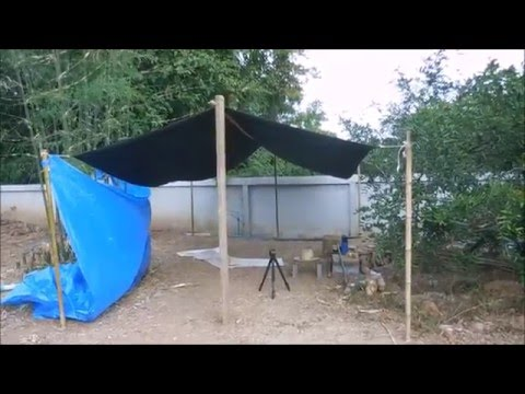 Flying tarp/roof tarp configuration