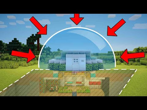 Minecraft: How to Build a Mob Proof Starter House Tutorial - (Safe Redstone House)
