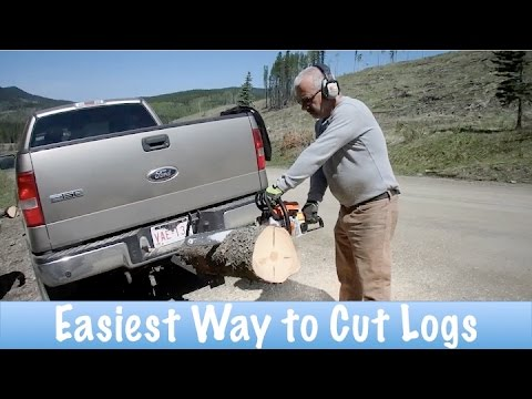 Easiest Way to Cut Logs for Firewood How To