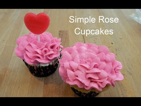 How to Make Rose Flower Cupcakes in Minutes