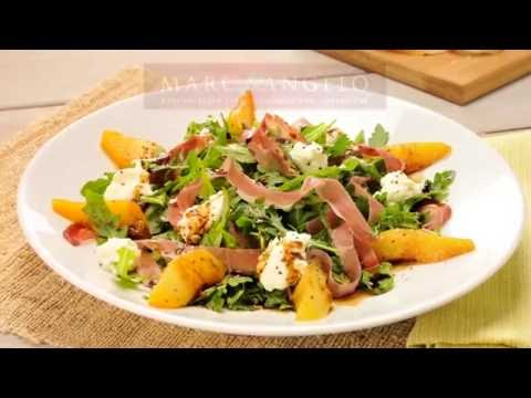 How to make Marcangelo Arugula Speck Salad with Caramelized Pears and Burrata