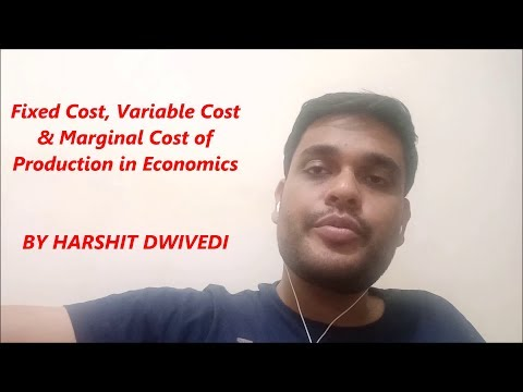 Understanding Marginal Cost, Fixed Cost & Variable Cost of Production