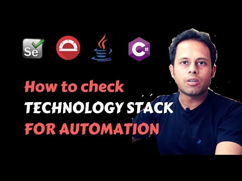 QnA Friday 34 - How to check TECHNOLOGY STACK for Automation